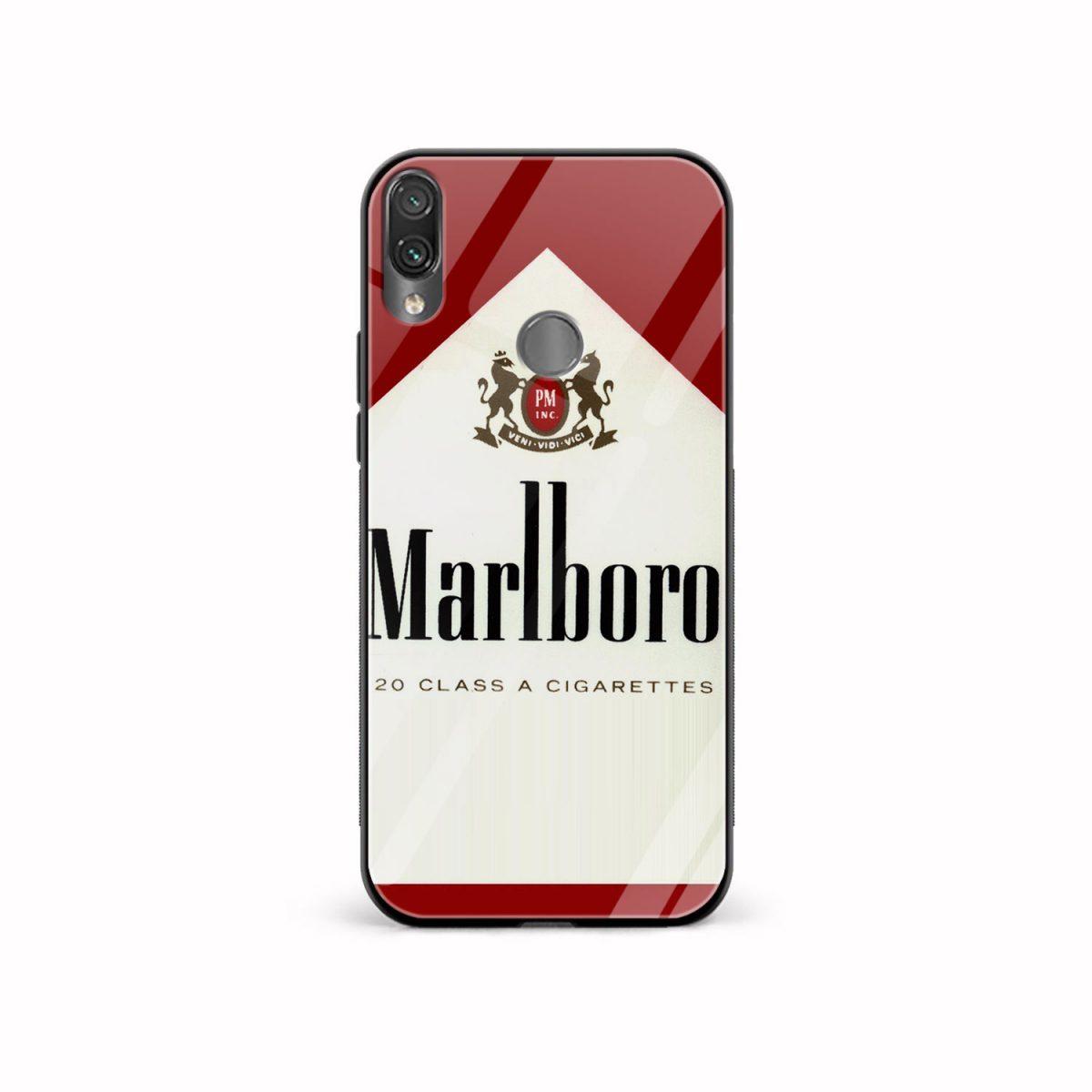 marlboro cigarette custom redmi note7 mobile cover front view