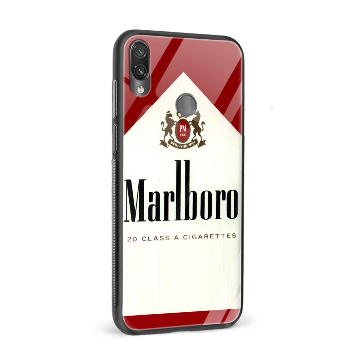 marlboro cigarette custom redmi note7 mobile cover side view 1