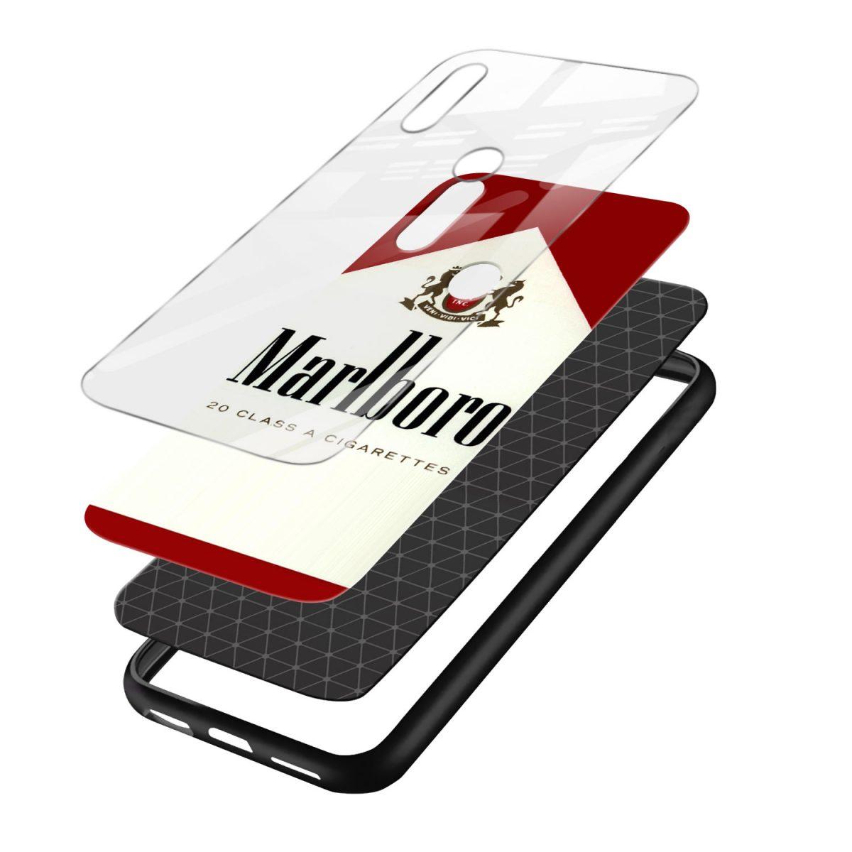 marlboro cigarette custom redmi note7 mobile cover layers view 1