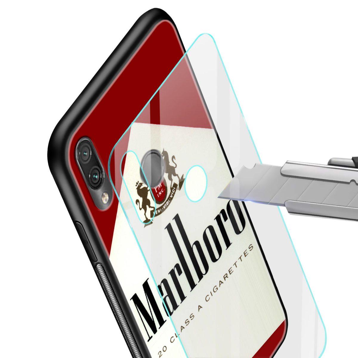 marlboro cigarette custom redmi note7 mobile cover glass view 1