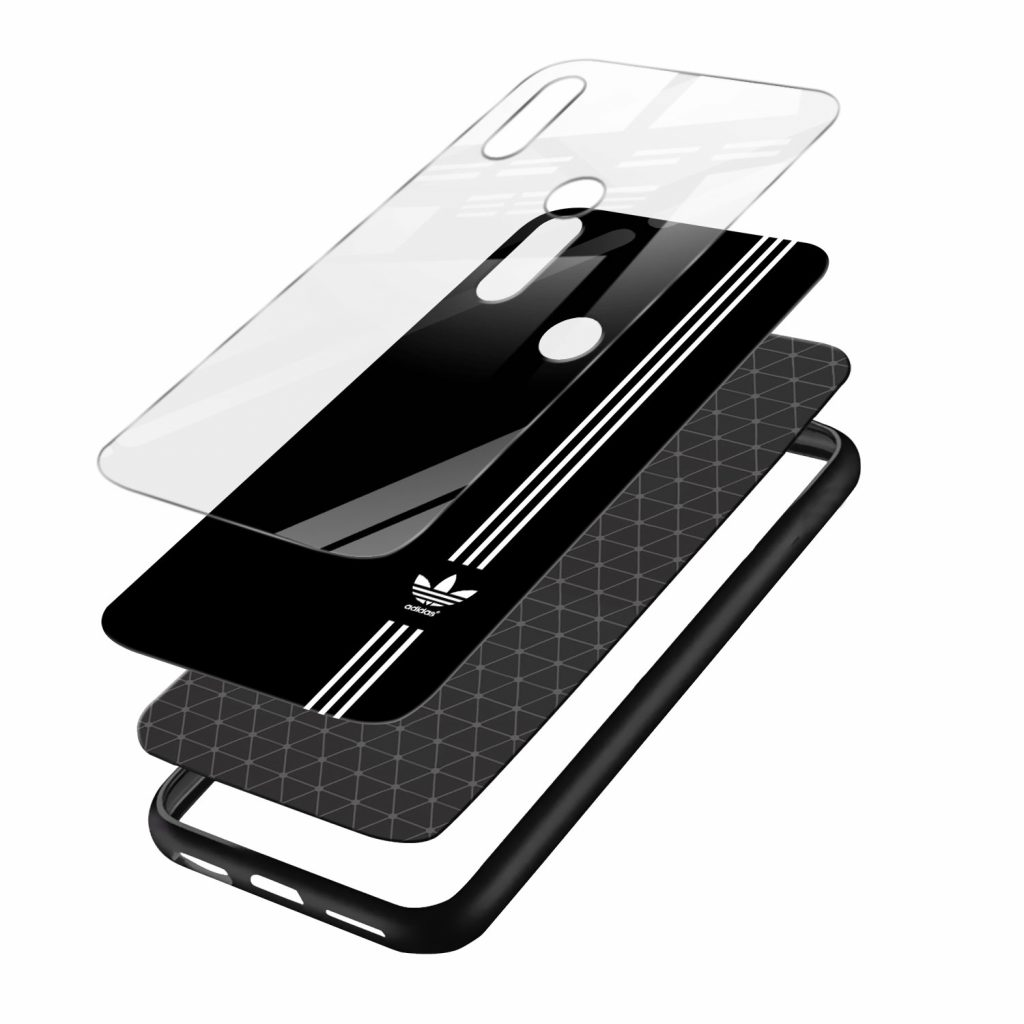 adidas logo black color redmi note7 mobile cover layers view