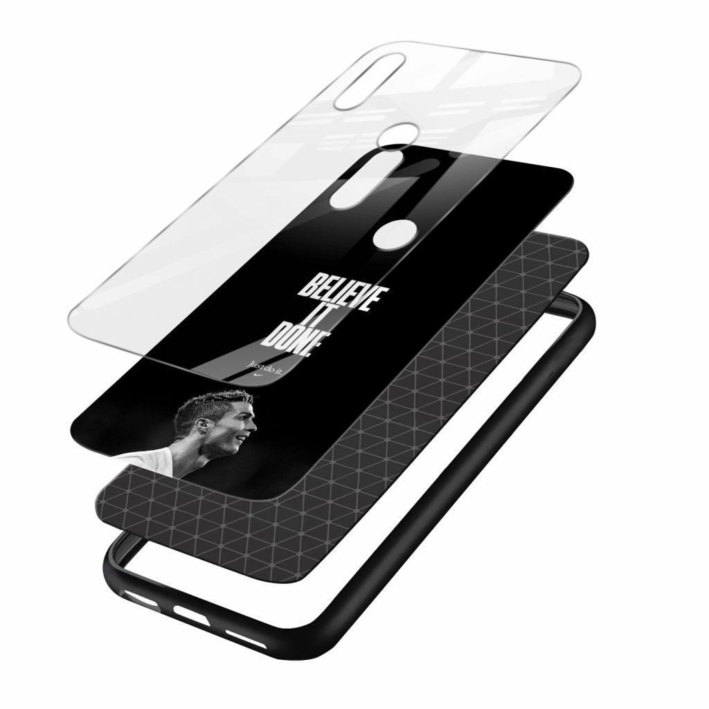 cristiano ronaldo black white redmi note7 mobile cover layers view