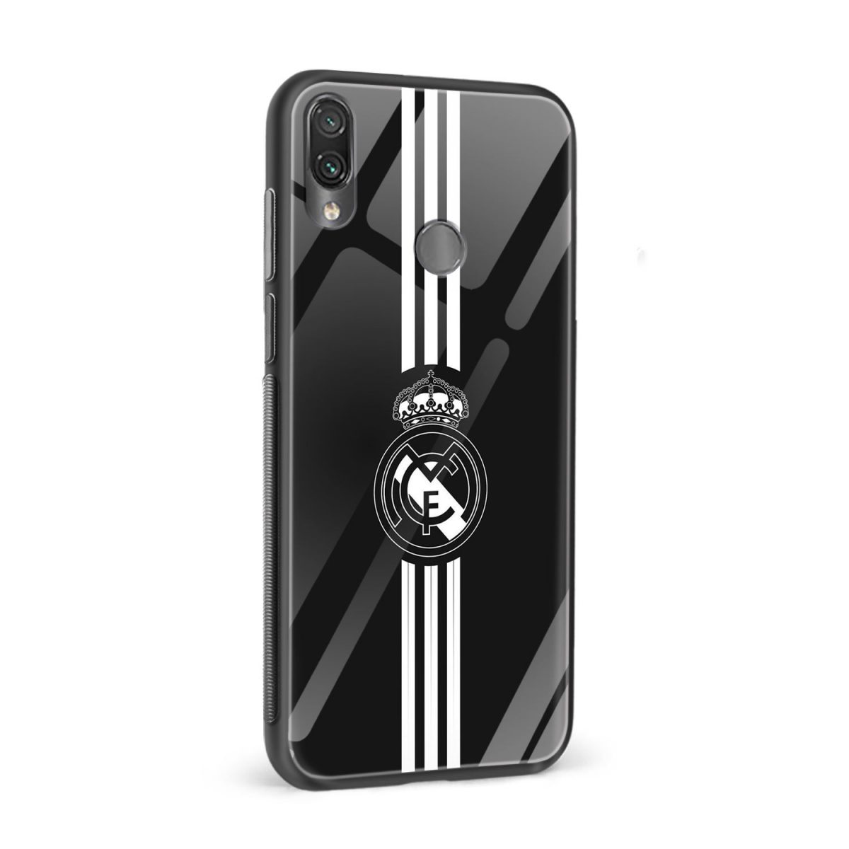 real madrid cf black redmi note7 mobile cover side view 1