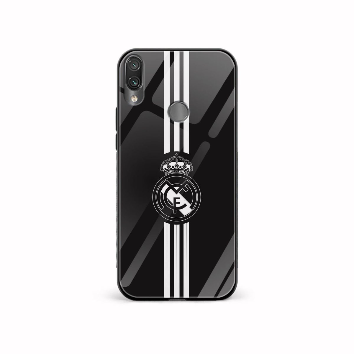 real madrid cf black redmi note7 mobile cover front view 1