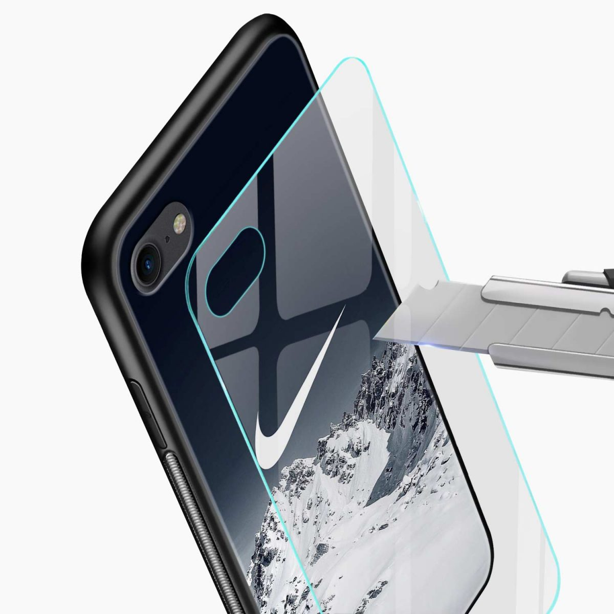 nike mountain view diagonal view apple iphone 6 7 8 se back cover 3