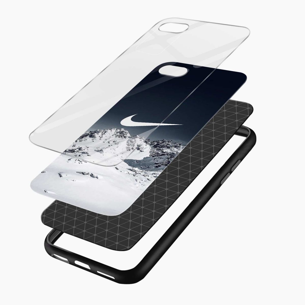 nike mountain view diagonal view apple iphone 6 7 8 se back cover 4