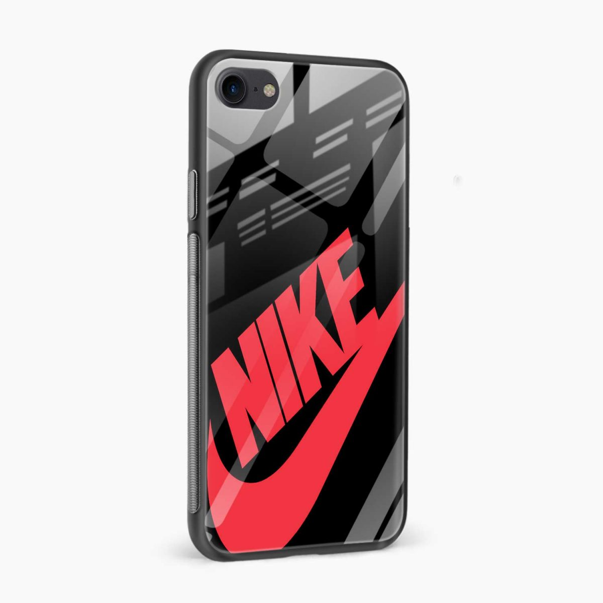nike black red diagonal view apple iphone 6 7 8 se back cover 5