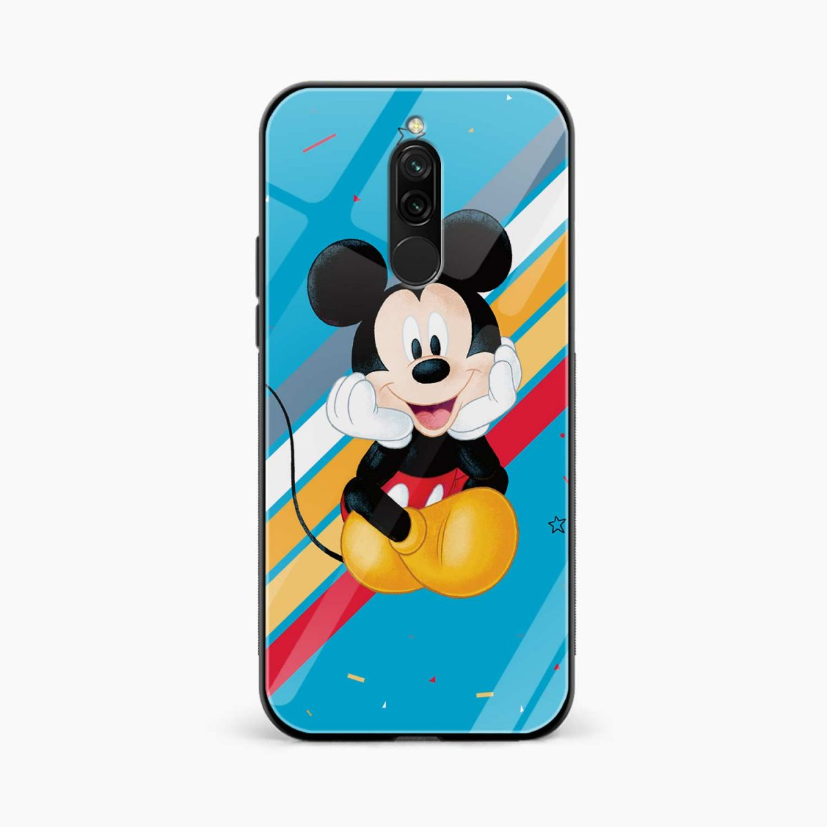 lovely and cute mickey mouse disney cartoon front view redmi 8 back cover 1