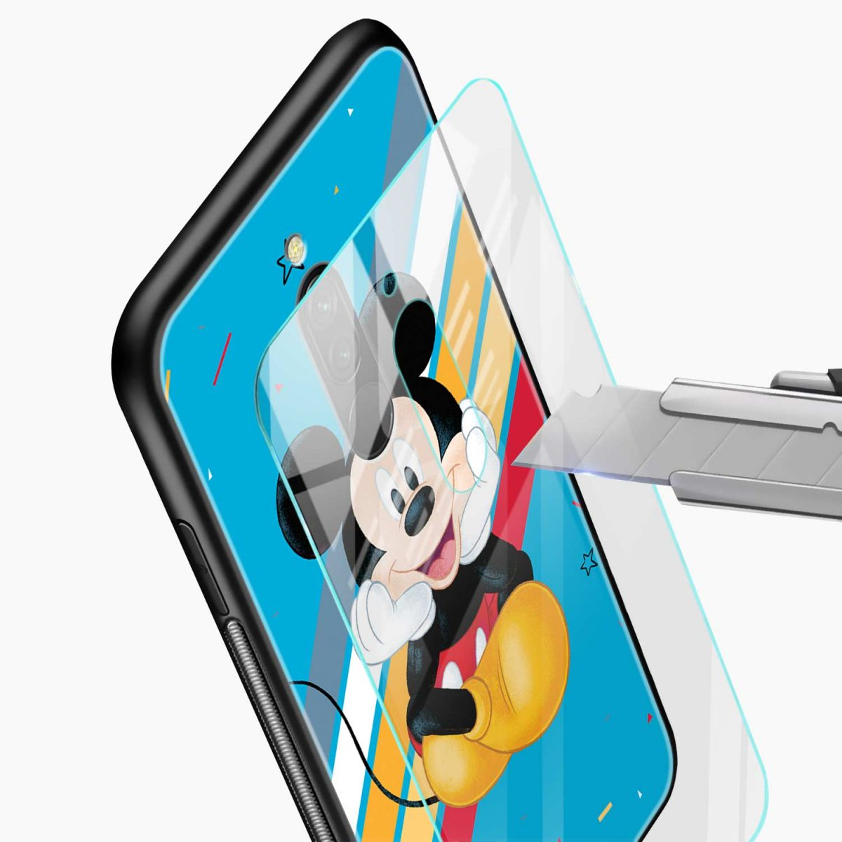 lovely and cute mickey mouse disney cartoon front view redmi 8 back cover 2