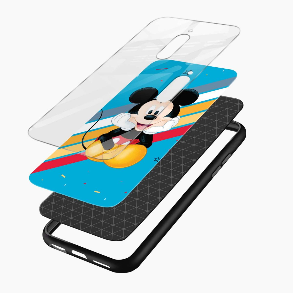 lovely and cute mickey mouse disney cartoon front view redmi 8 back cover 3