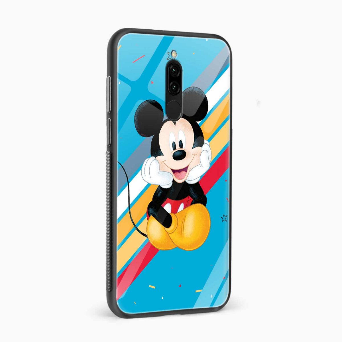 lovely and cute mickey mouse disney cartoon front view redmi 8 back cover 4