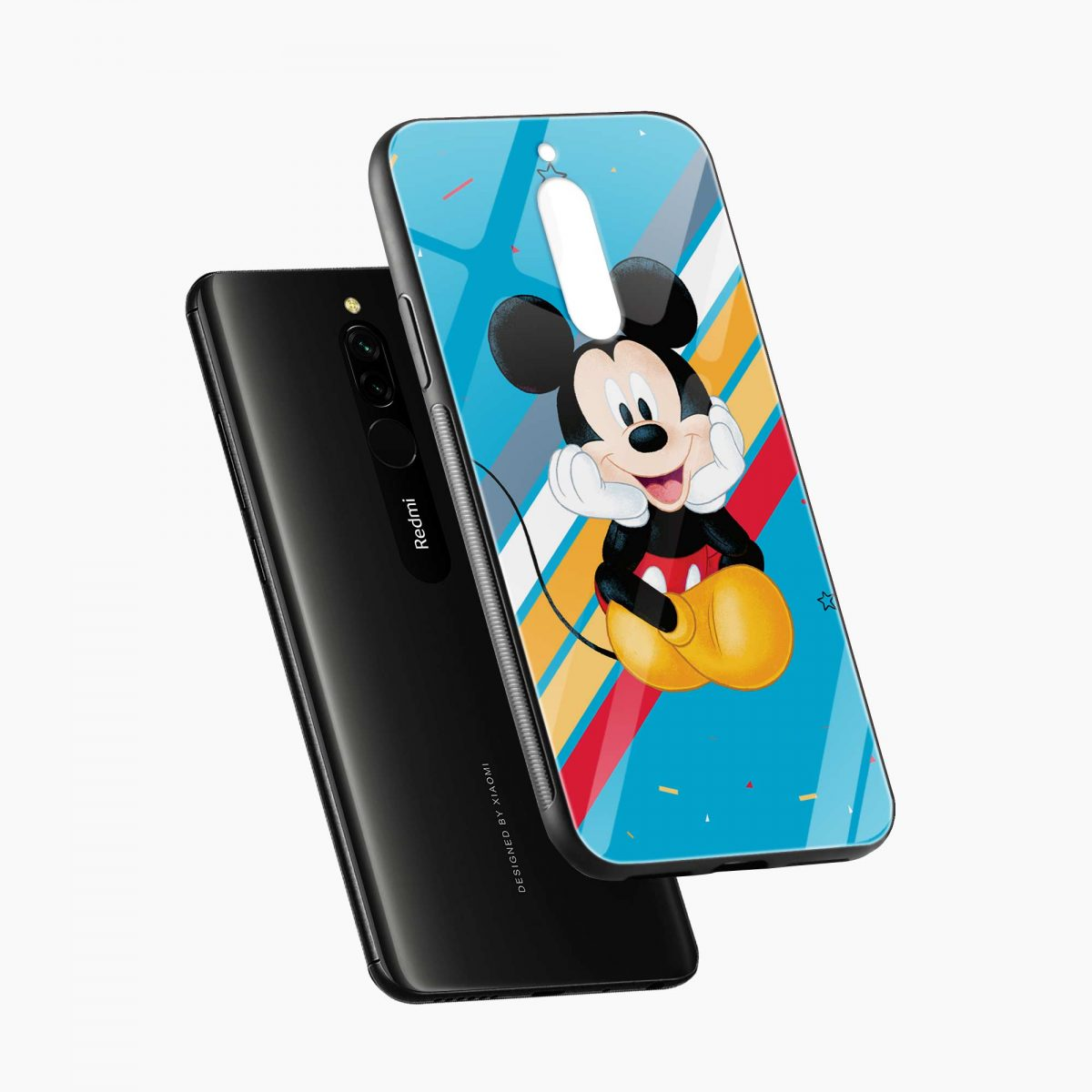 lovely and cute mickey mouse disney cartoon front view redmi 8 back cover 5 1