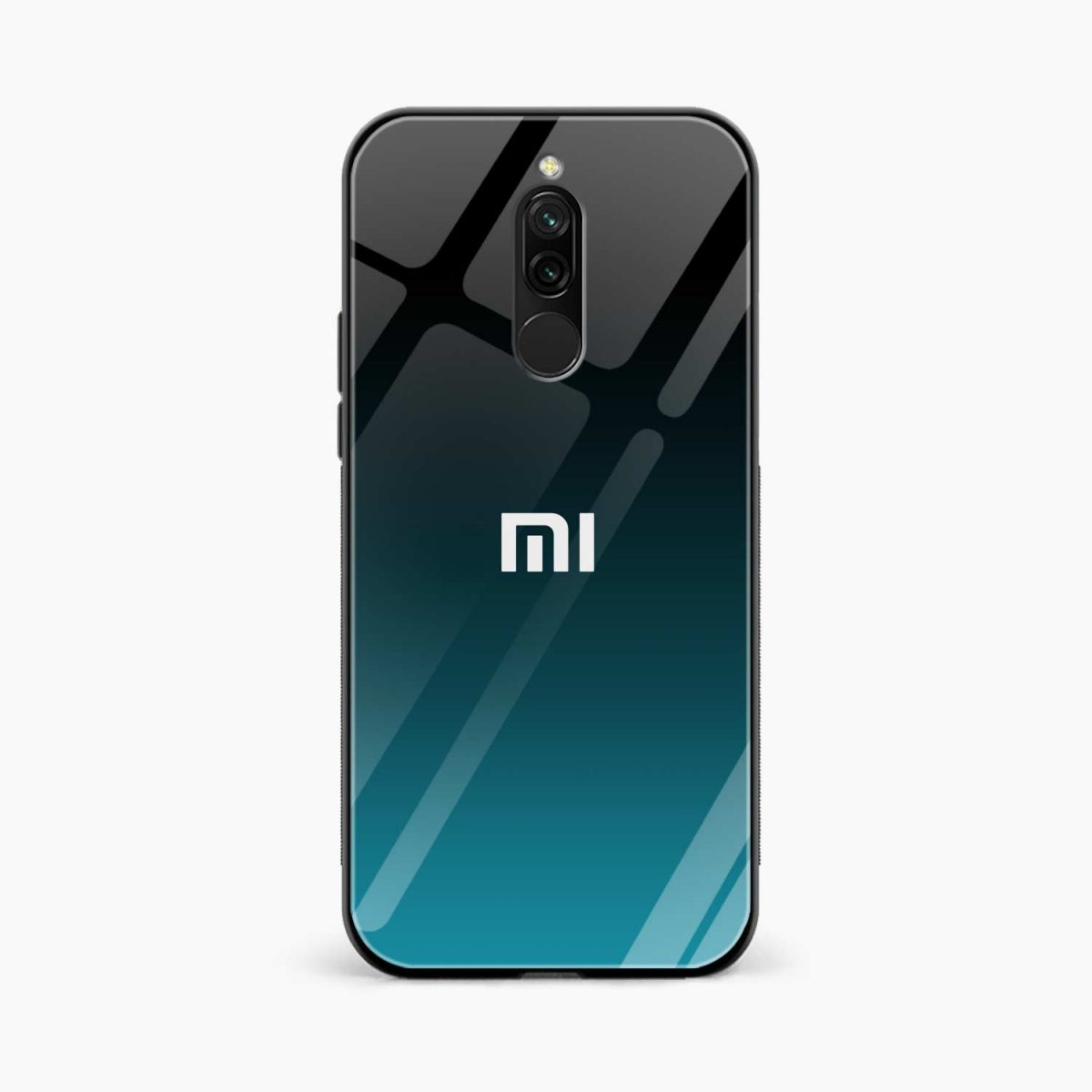 ultramarine glass front view redmi 8 back cover 1