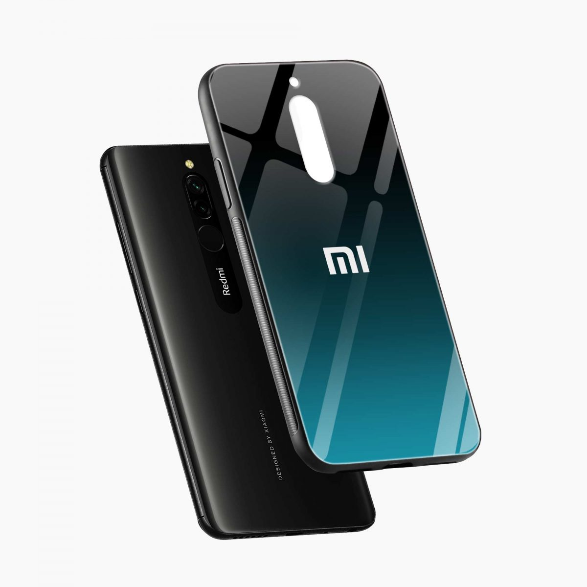 ultramarine glass front view redmi 8 back cover 5