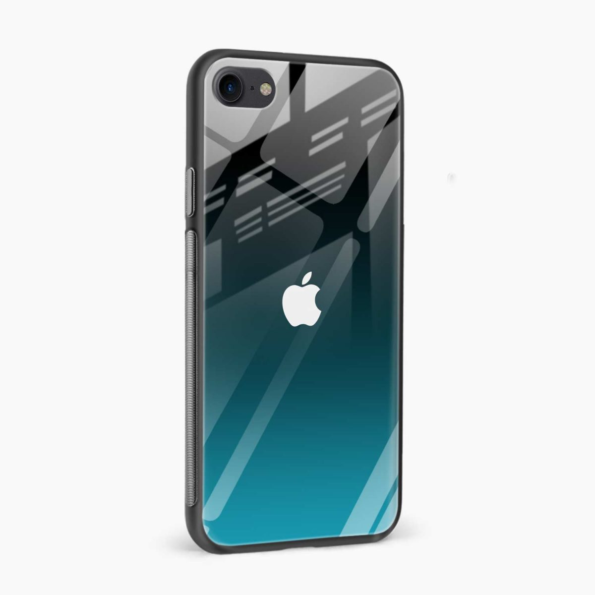 ultramarine glass front view apple iphone 6 7 8 se back cover 4