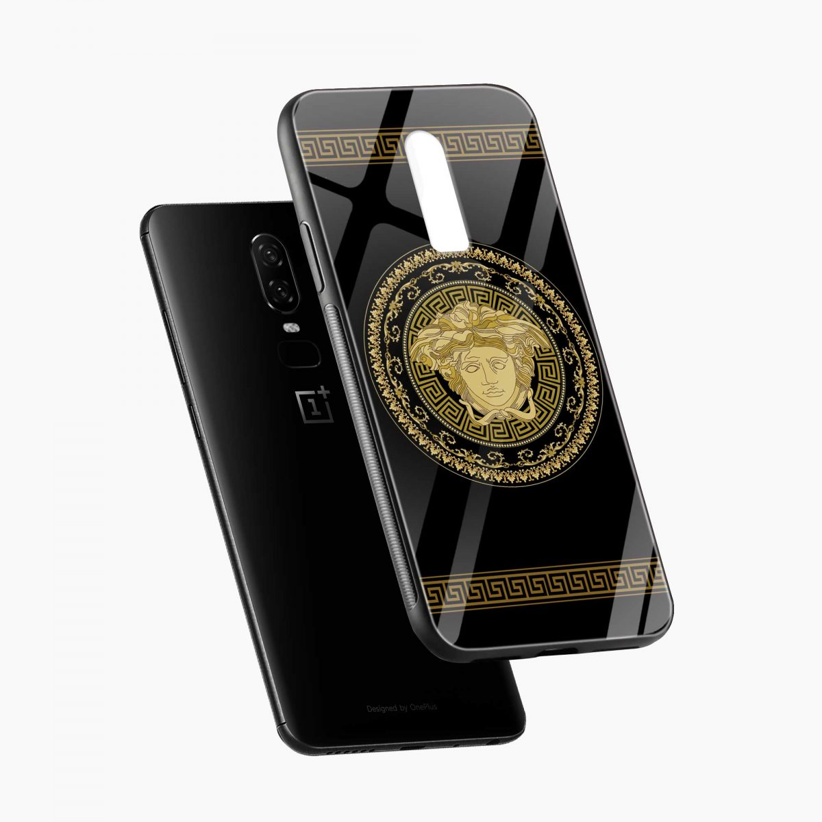 VERSACE diagonal view oneplus 6 back cover