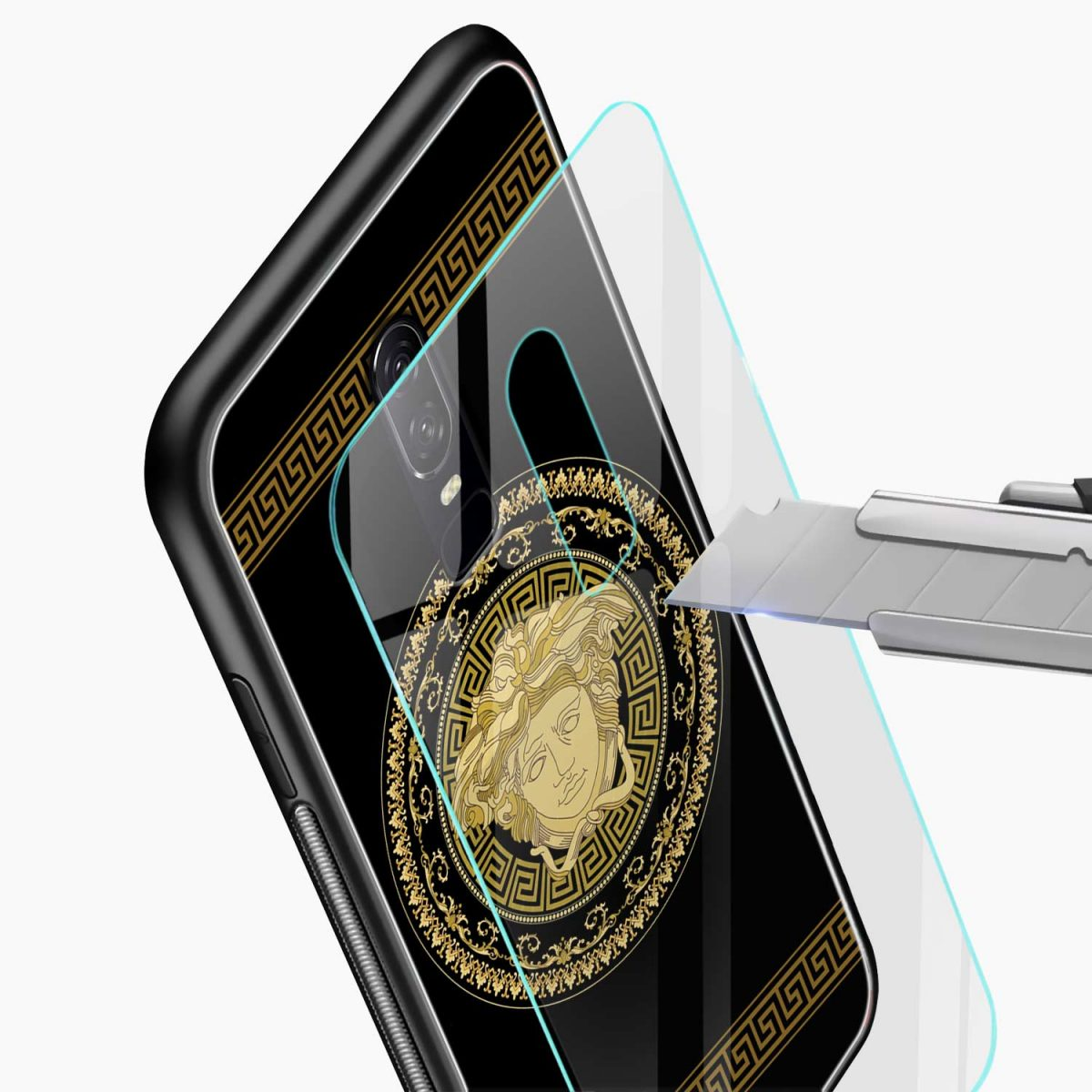 VERSACE glass view oneplus 6 back cover
