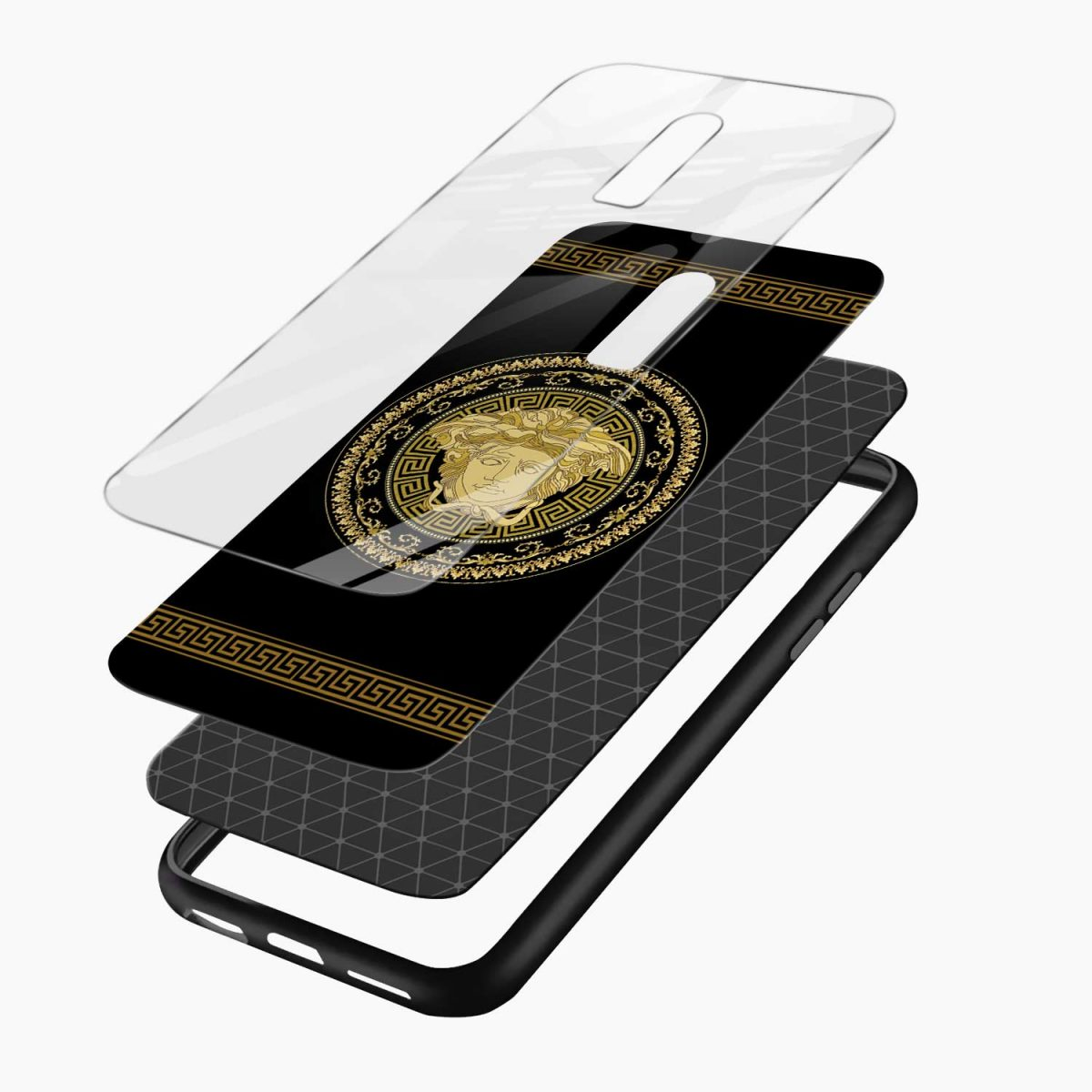 VERSACE layers view oneplus 6 back cover