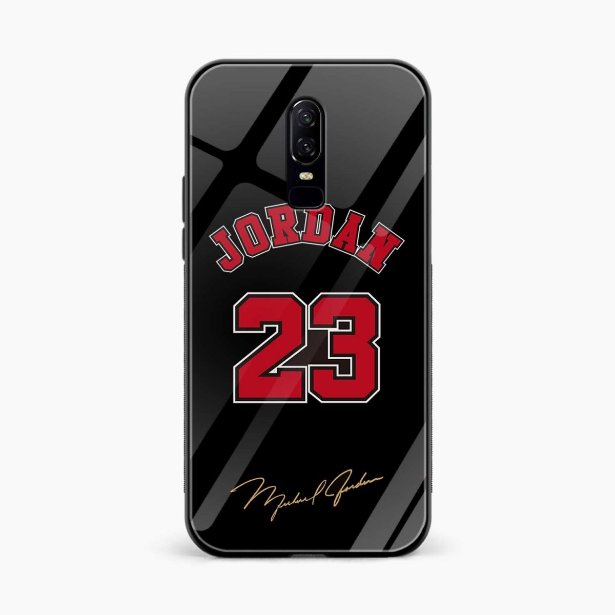 jordan front view oneplus 6 back cover