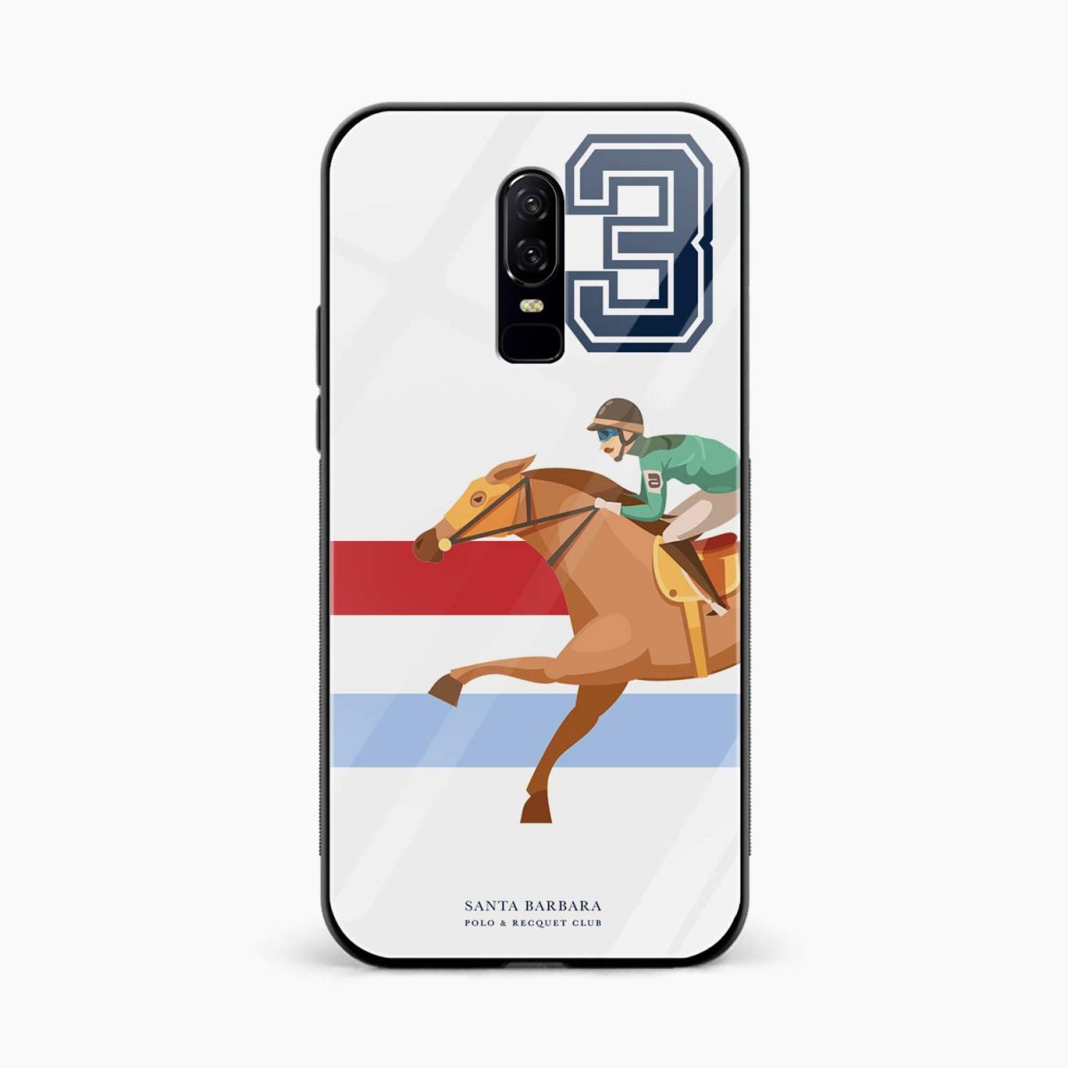 3D Santa Barbara front view oneplus 6 back cover