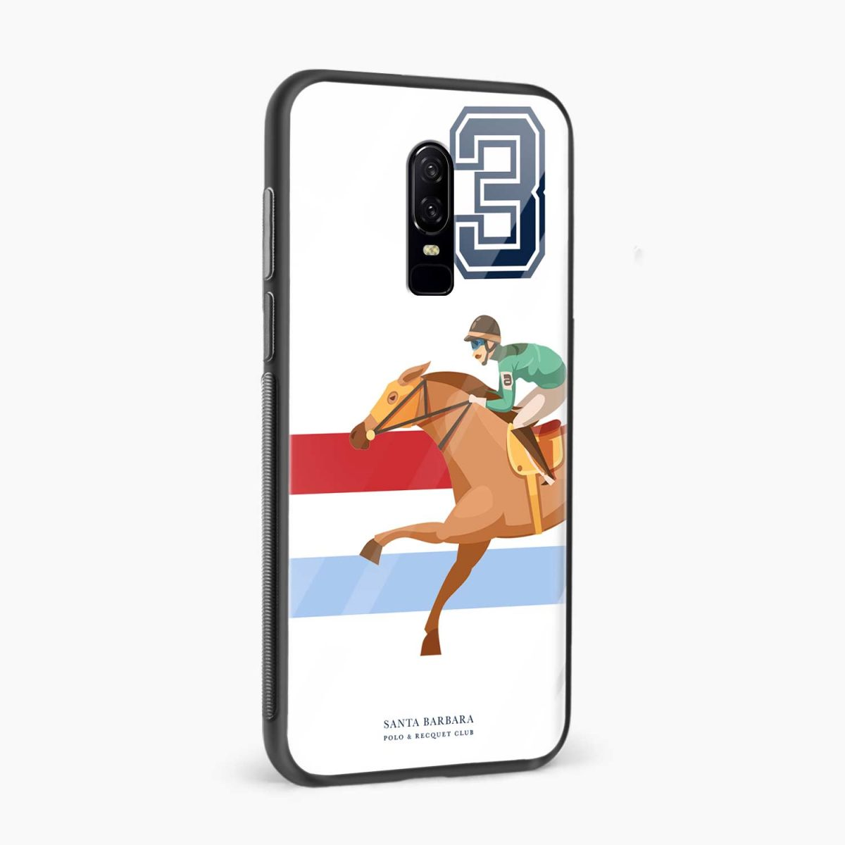 3D Santa Barbara side view oneplus 6 back cover