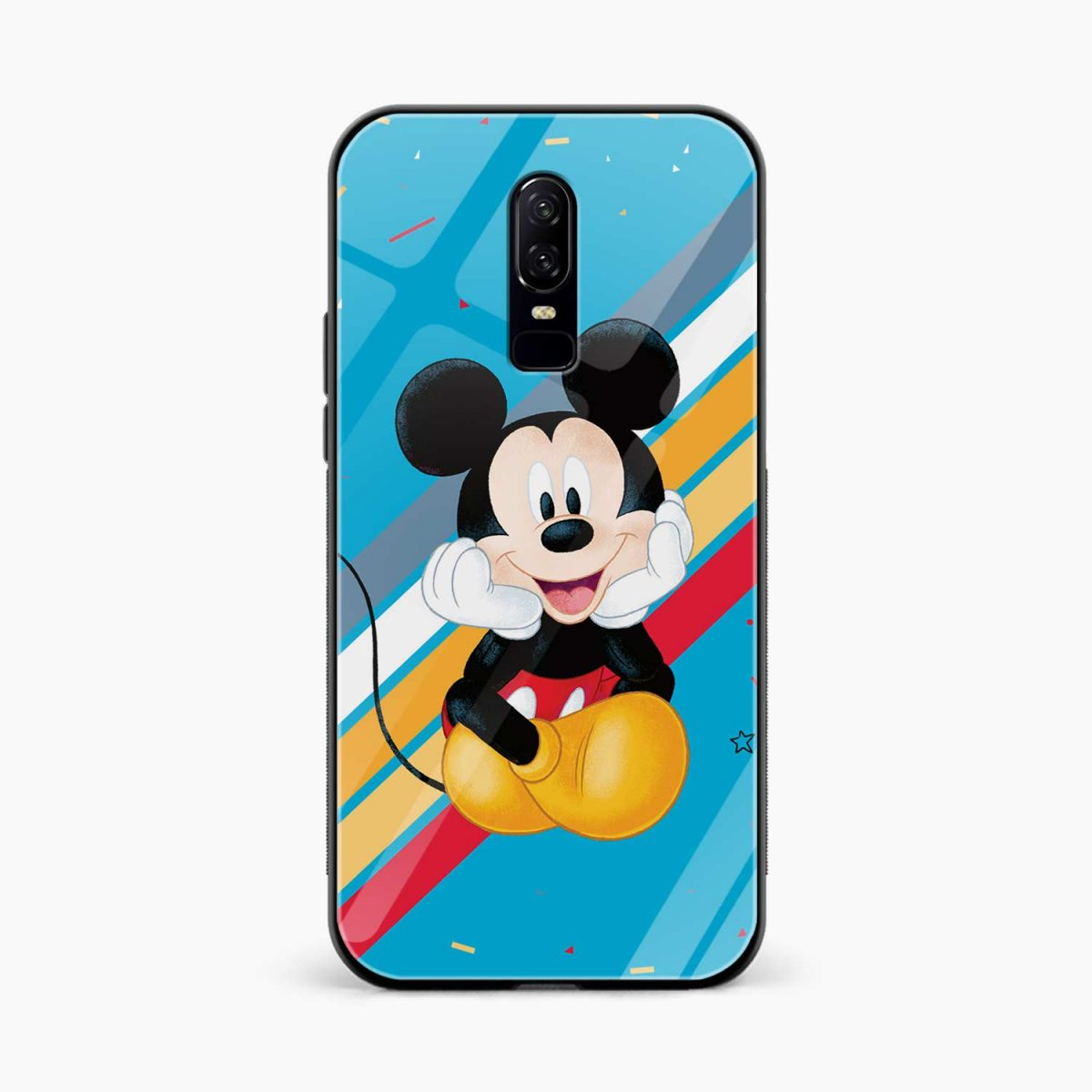 quirky mickey mouse front view oneplus 6 back cover