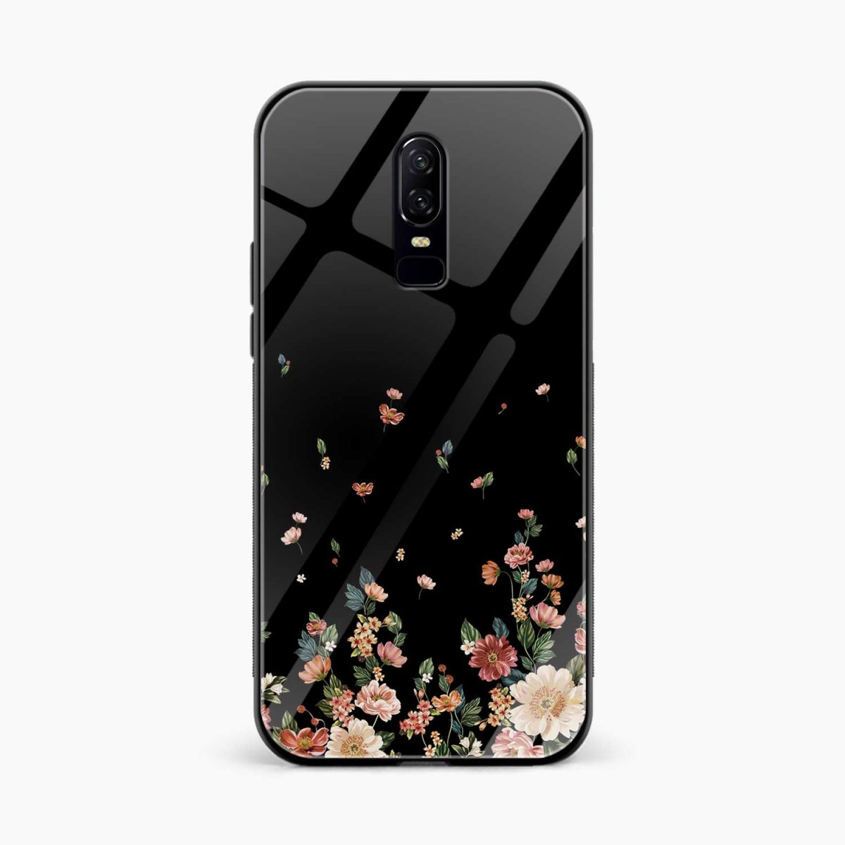 floral front view oneplus 6 back cover