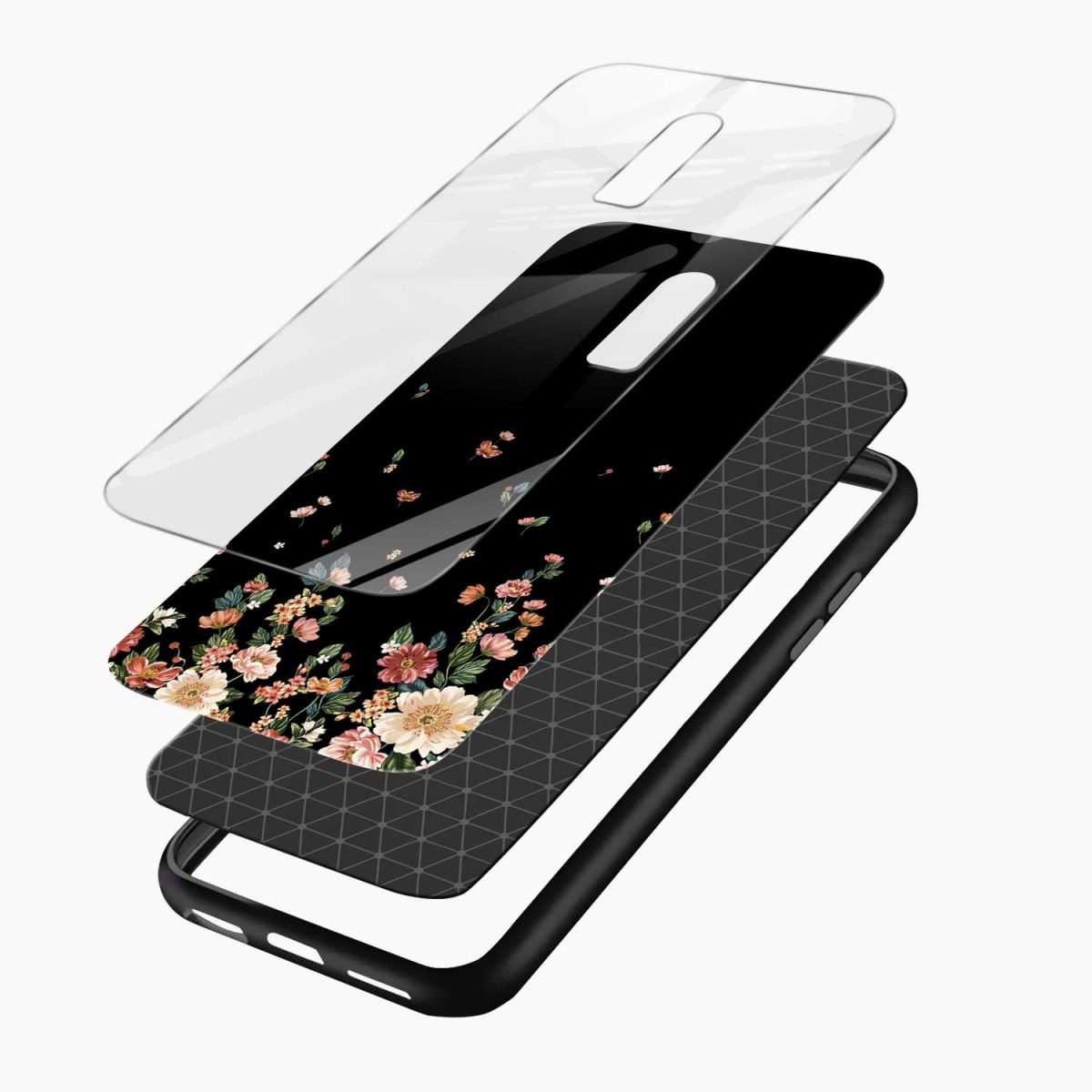 floral layers view oneplus 6 back cover