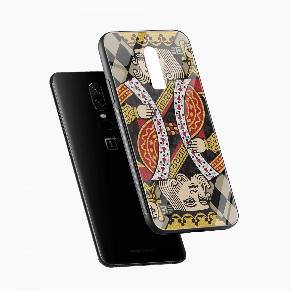 king diagonal view oneplus 6 back cover