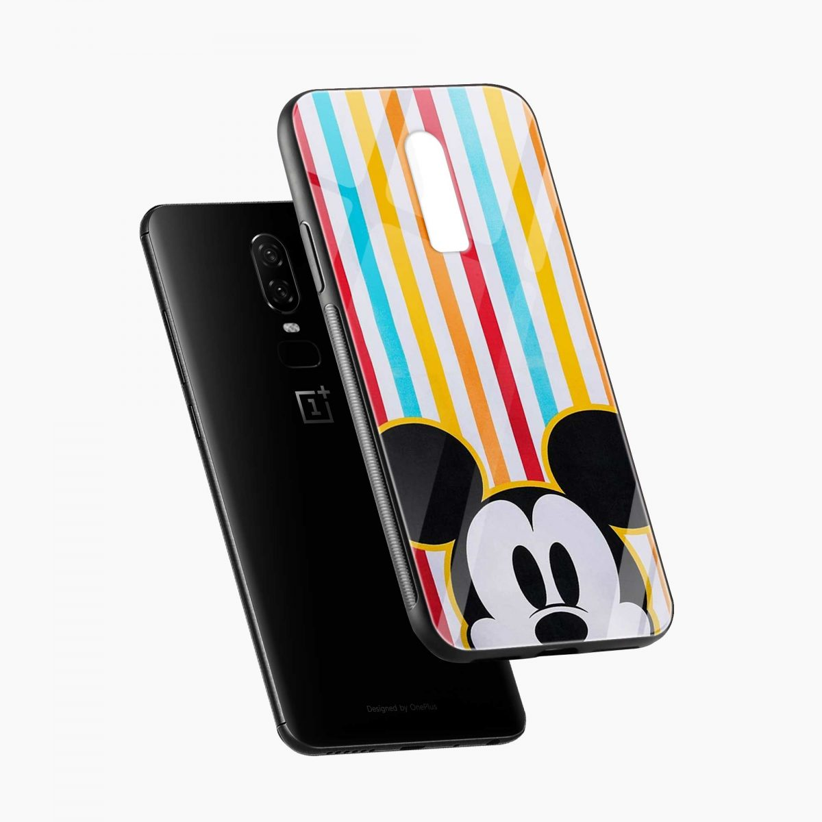 mickey mouse diagonal view oneplus 6 back cover