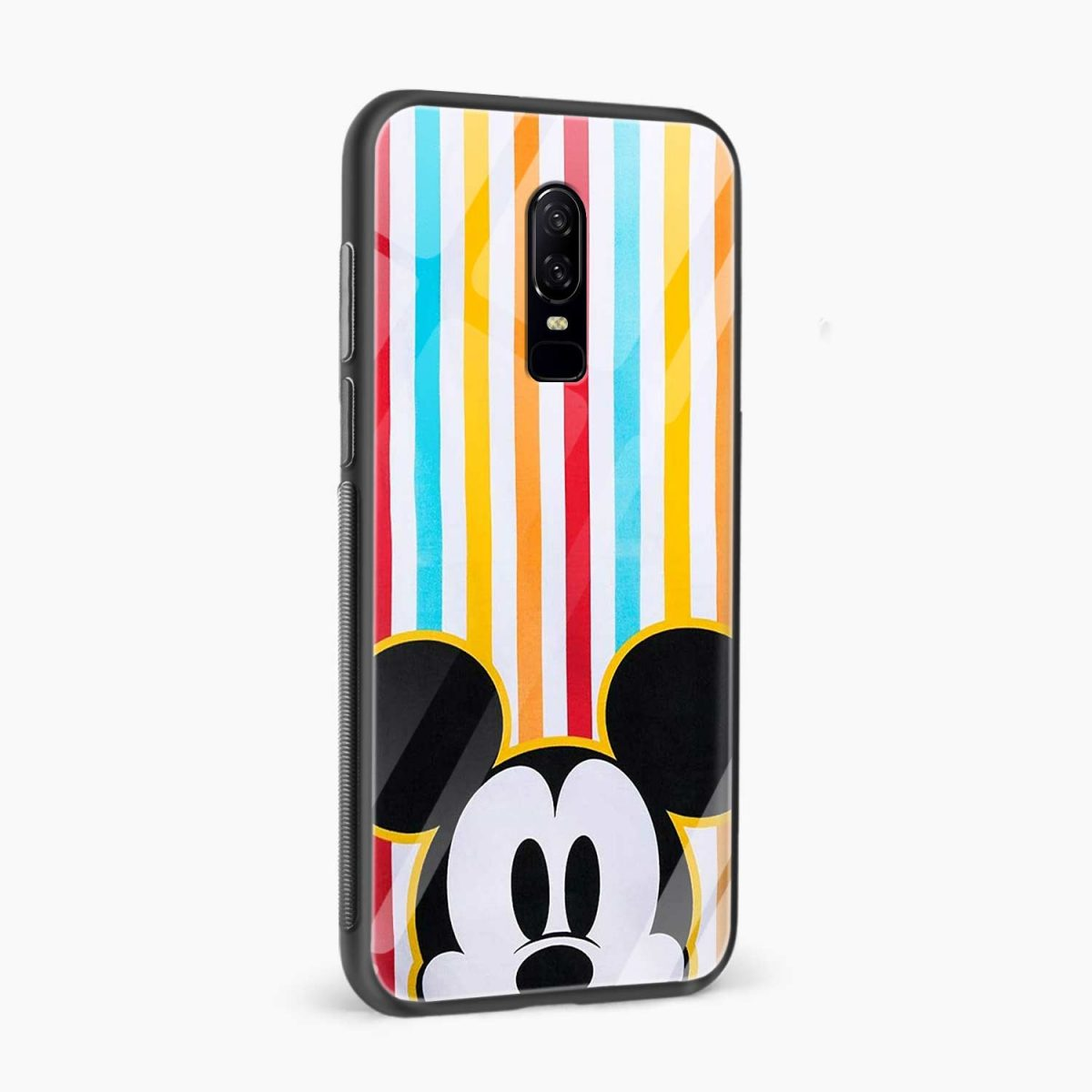 mini mouse side view oneplus 6 back cover