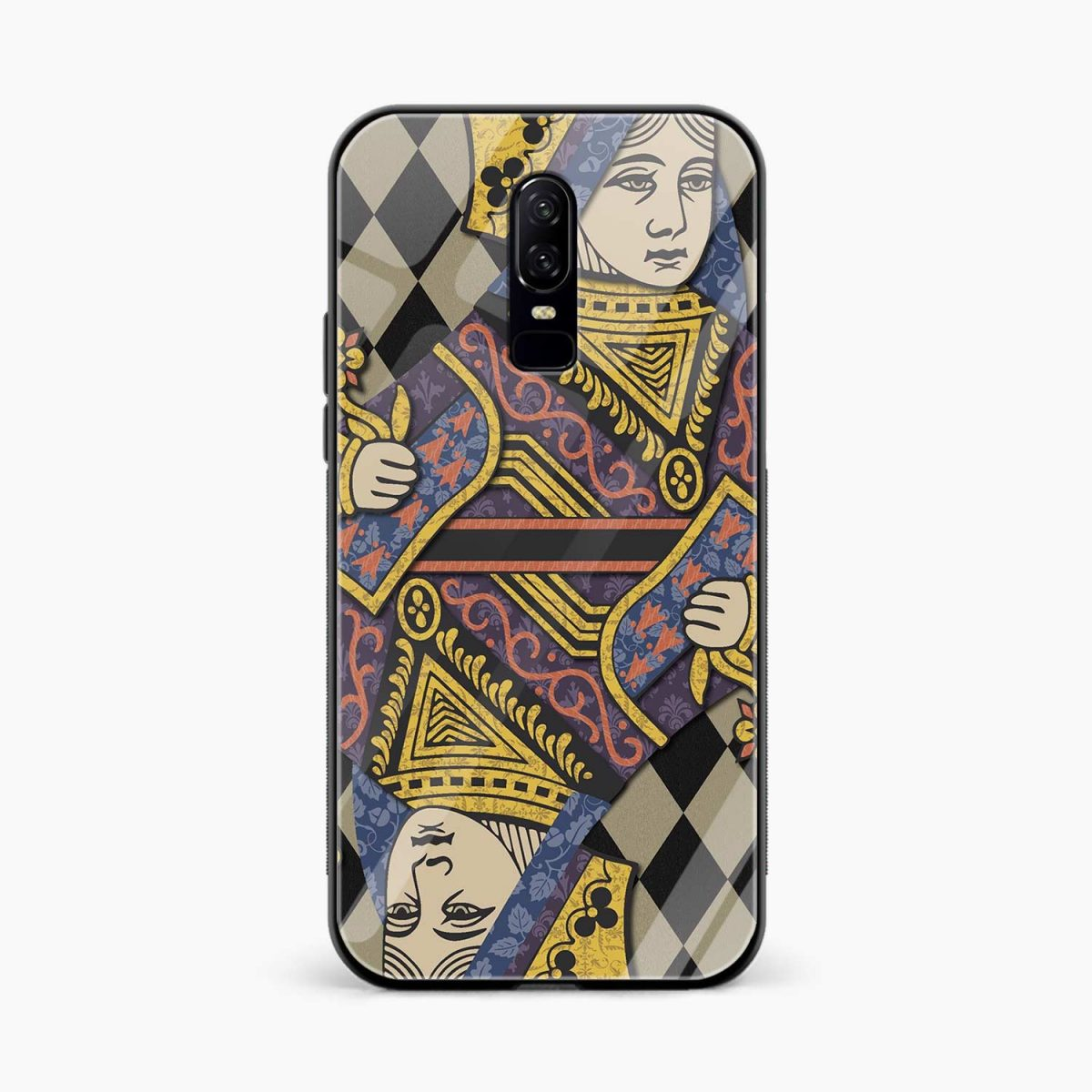 Queen front view oneplus 6 back cover