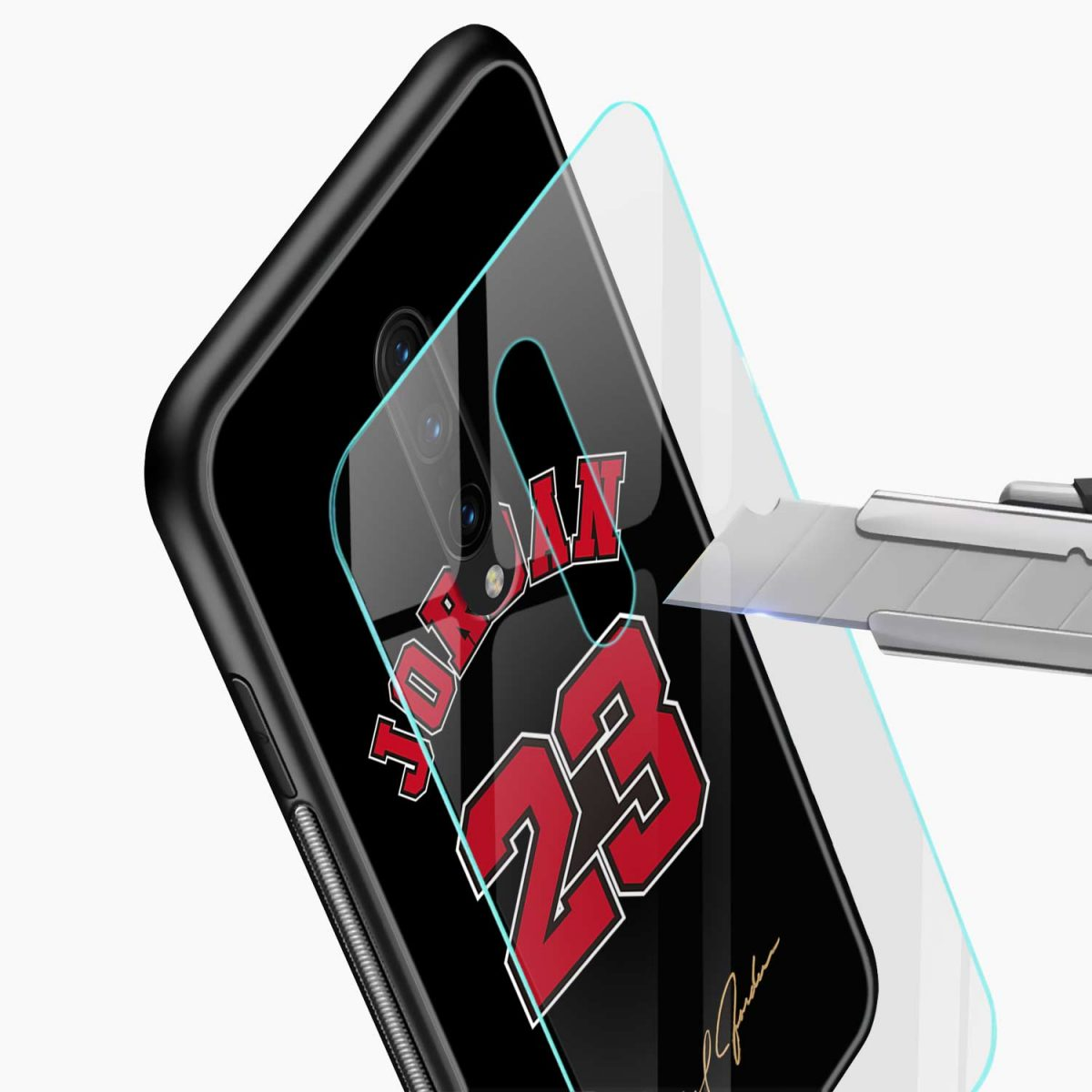 jordan glass view oneplus 7 pro back cover