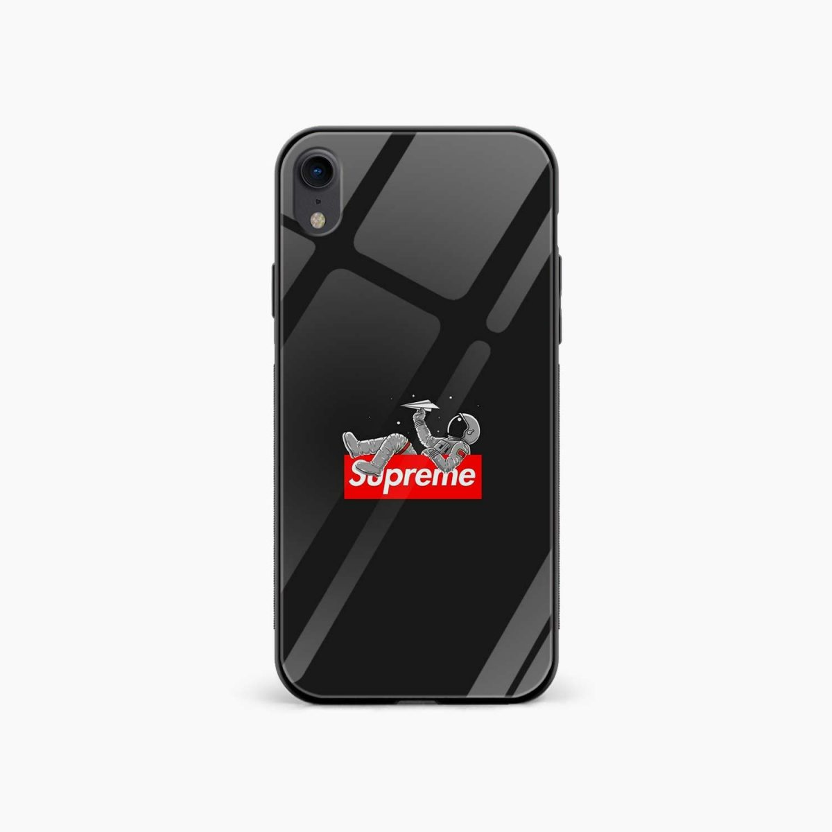 supreme astronaut apple iphone xr back cover front view