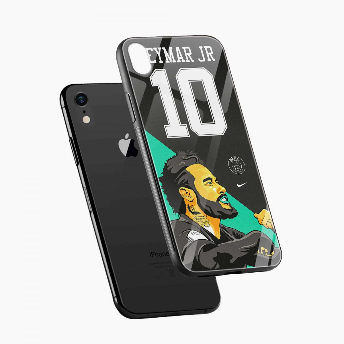 neymar jr 10 apple iphone xr back cover diagonal view