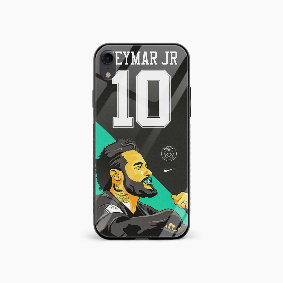 neymar jr 10 apple iphone xr back cover front view