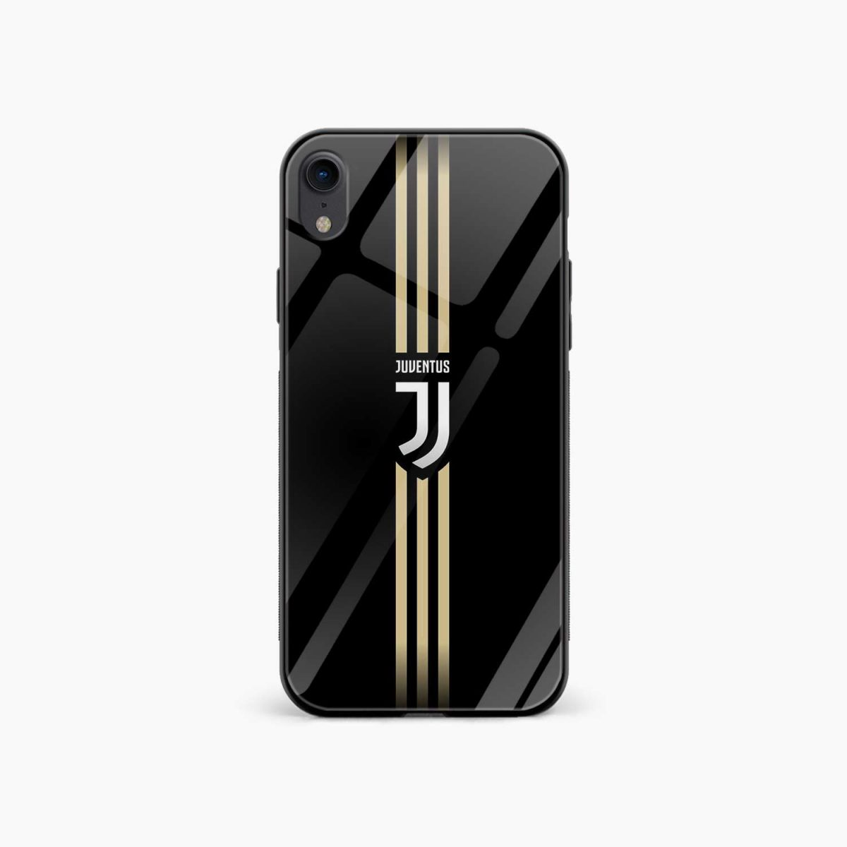 juventus golden strips apple iphone xr back cover front view