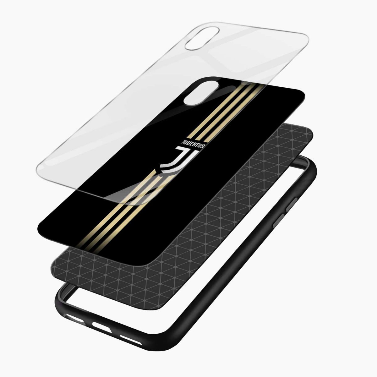 juventus golden strips apple iphone xr back cover layers view