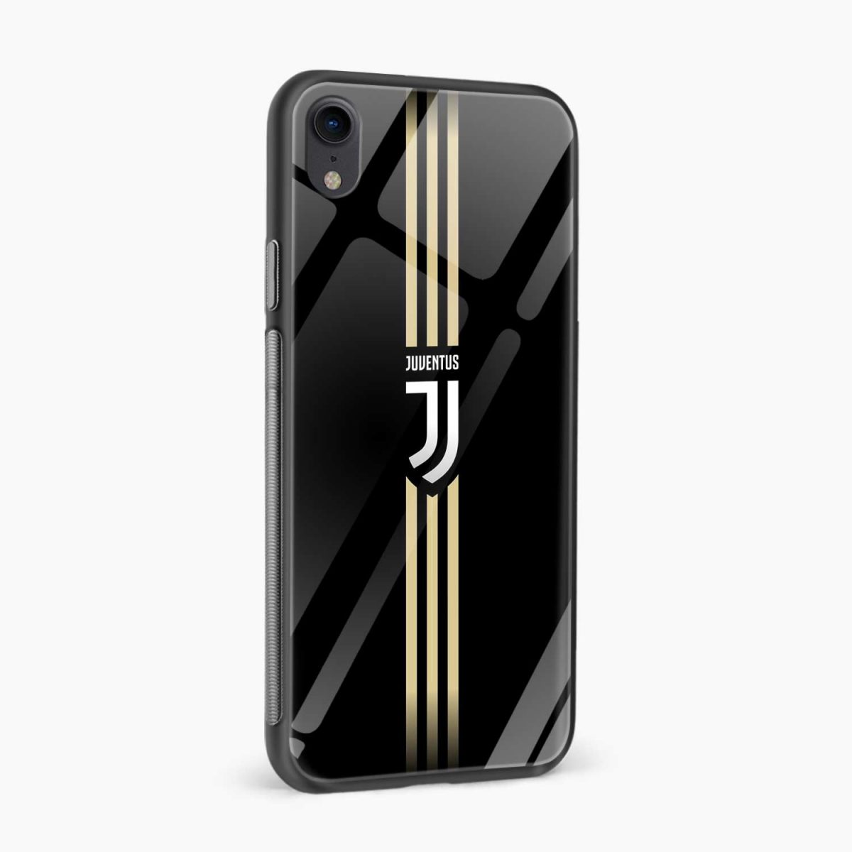 juventus golden strips apple iphone xr back cover side view