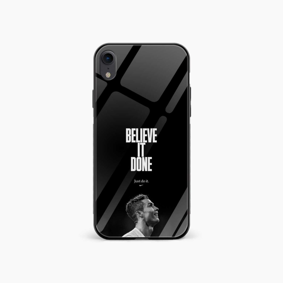 christiano ronaldo black white apple iphone xr back cover front view