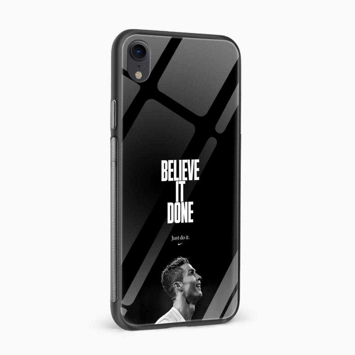 christiano ronaldo black white apple iphone xr back cover side view