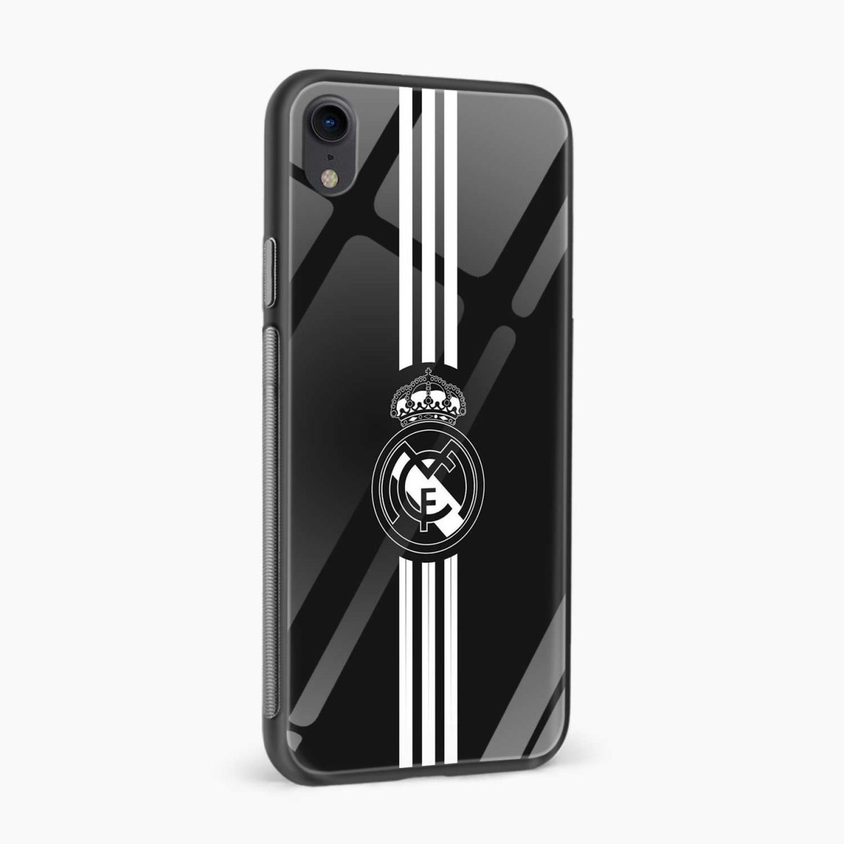 real madrid c f black apple iphone xr back cover side view