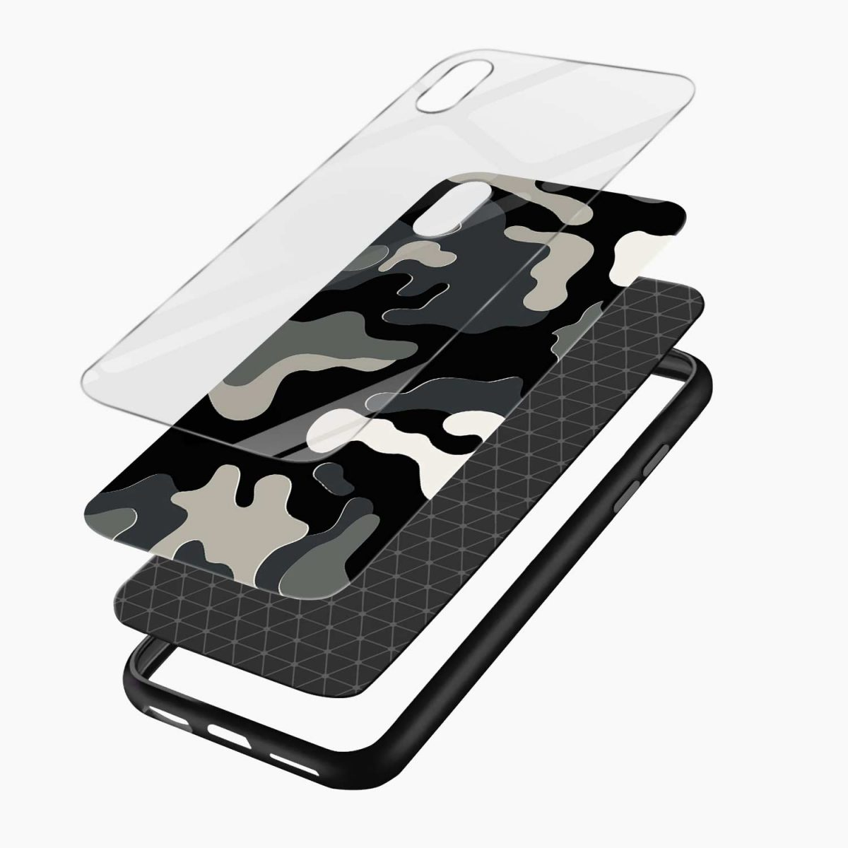 comoulfage print apple iphone xr back cover layers view