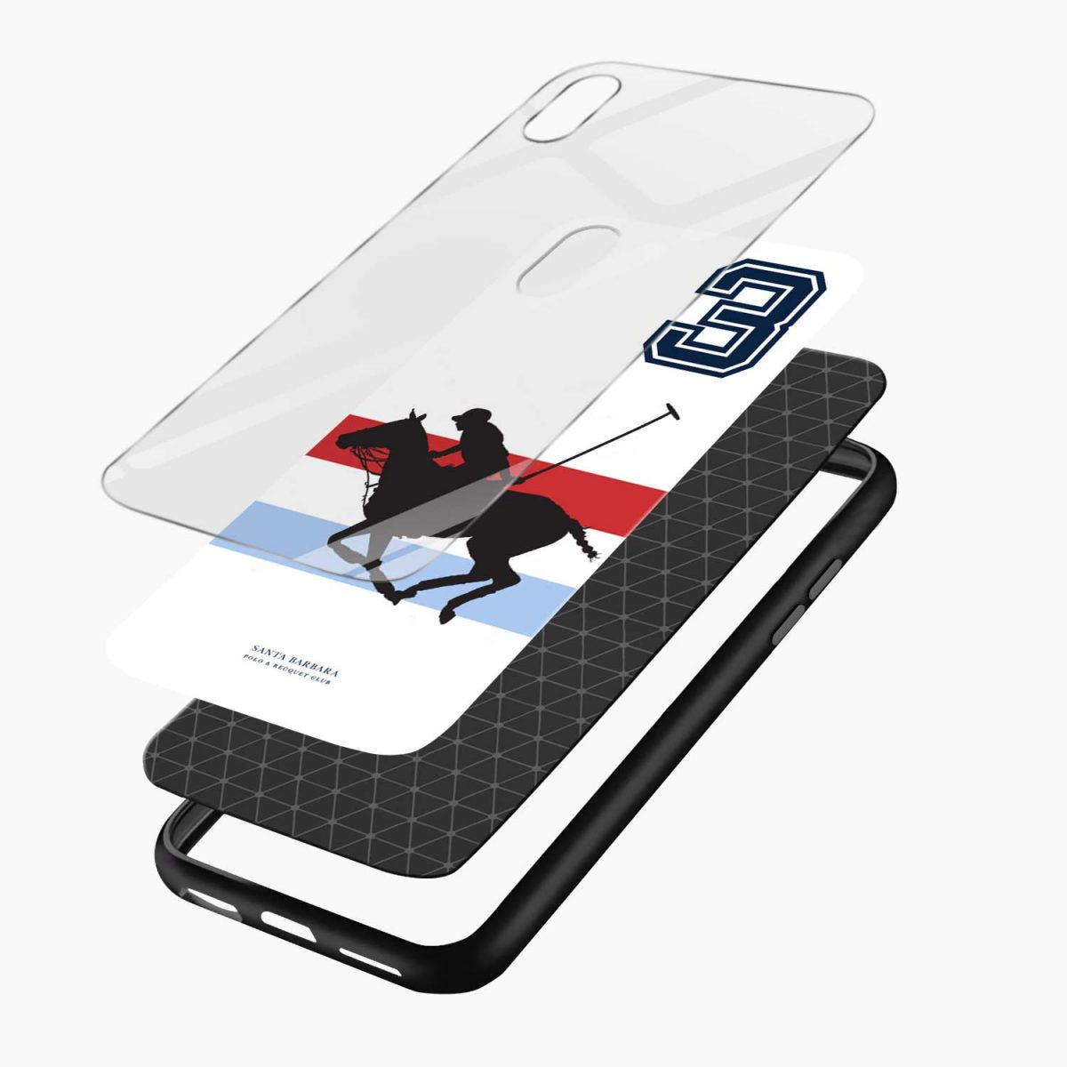 santa barbara polo apple iphone xr back cover layers view
