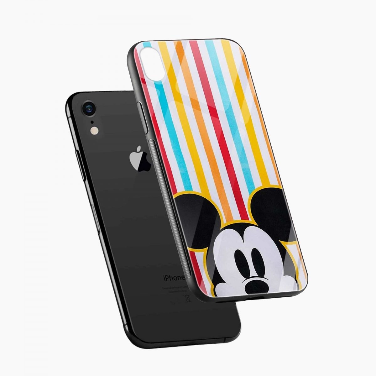 rigid spy mickey mouse apple iphone xr back cover diagonal view