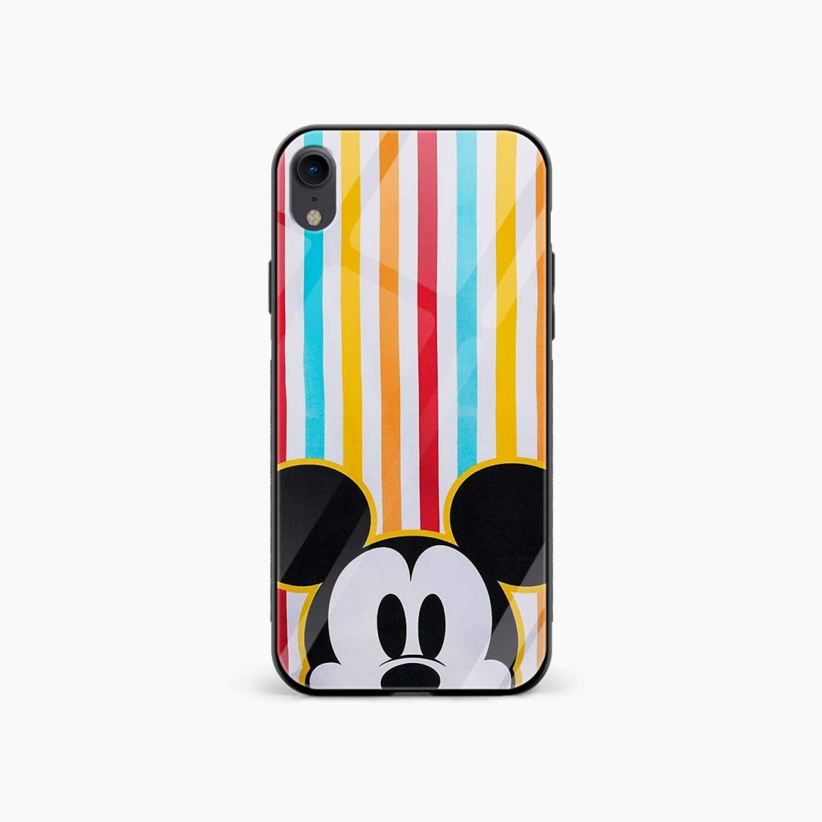 rigid spy mickey mouse apple iphone xr back cover front view