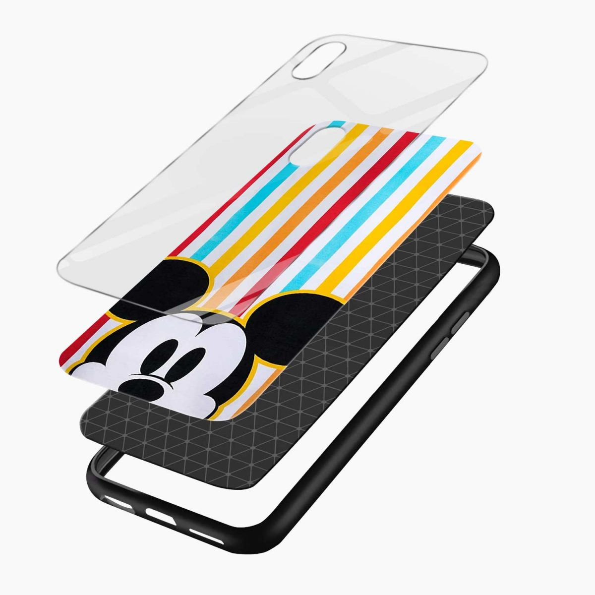 rigid spy mickey mouse apple iphone xr back cover layers view