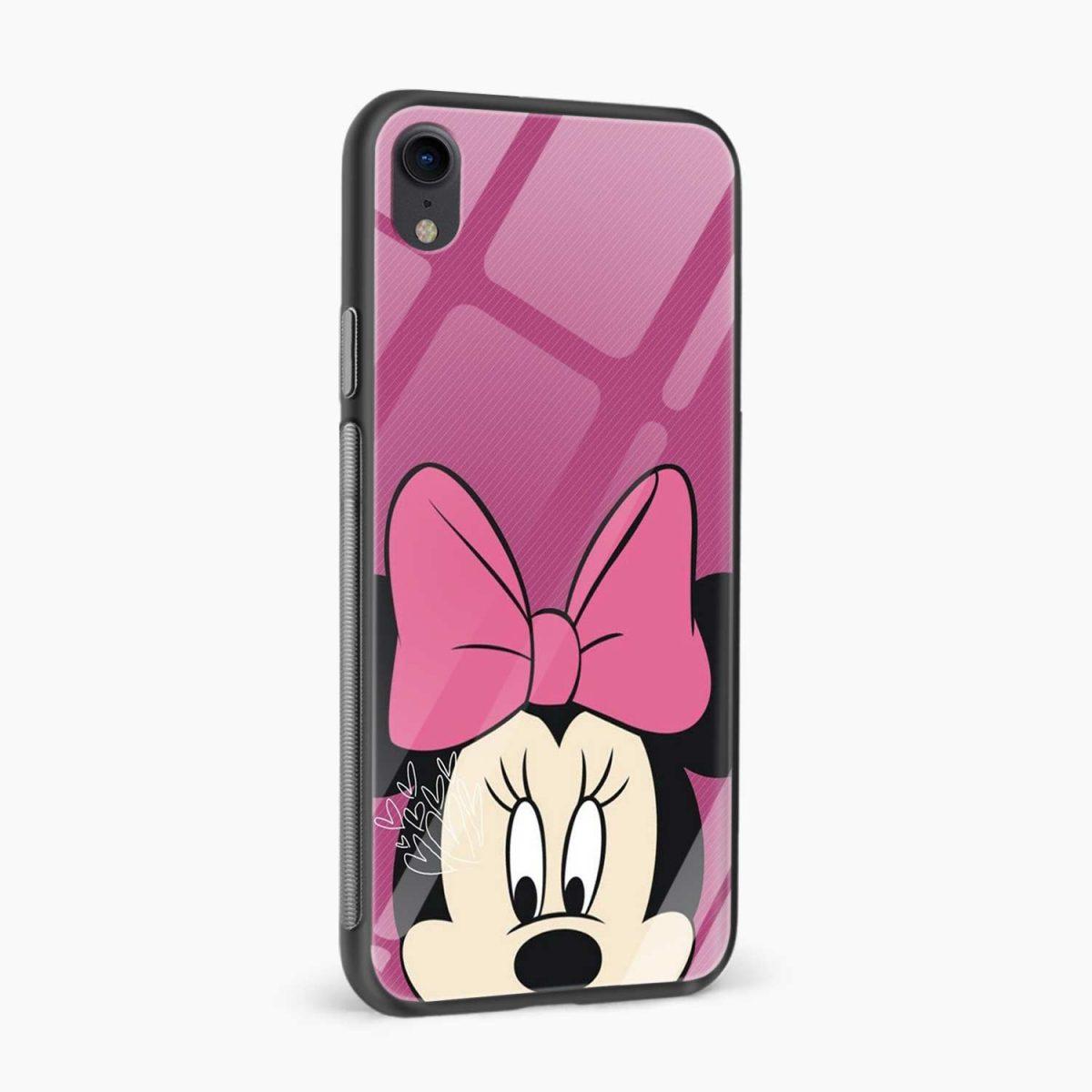 disney minnie cartoon apple iphone xr back cover side view