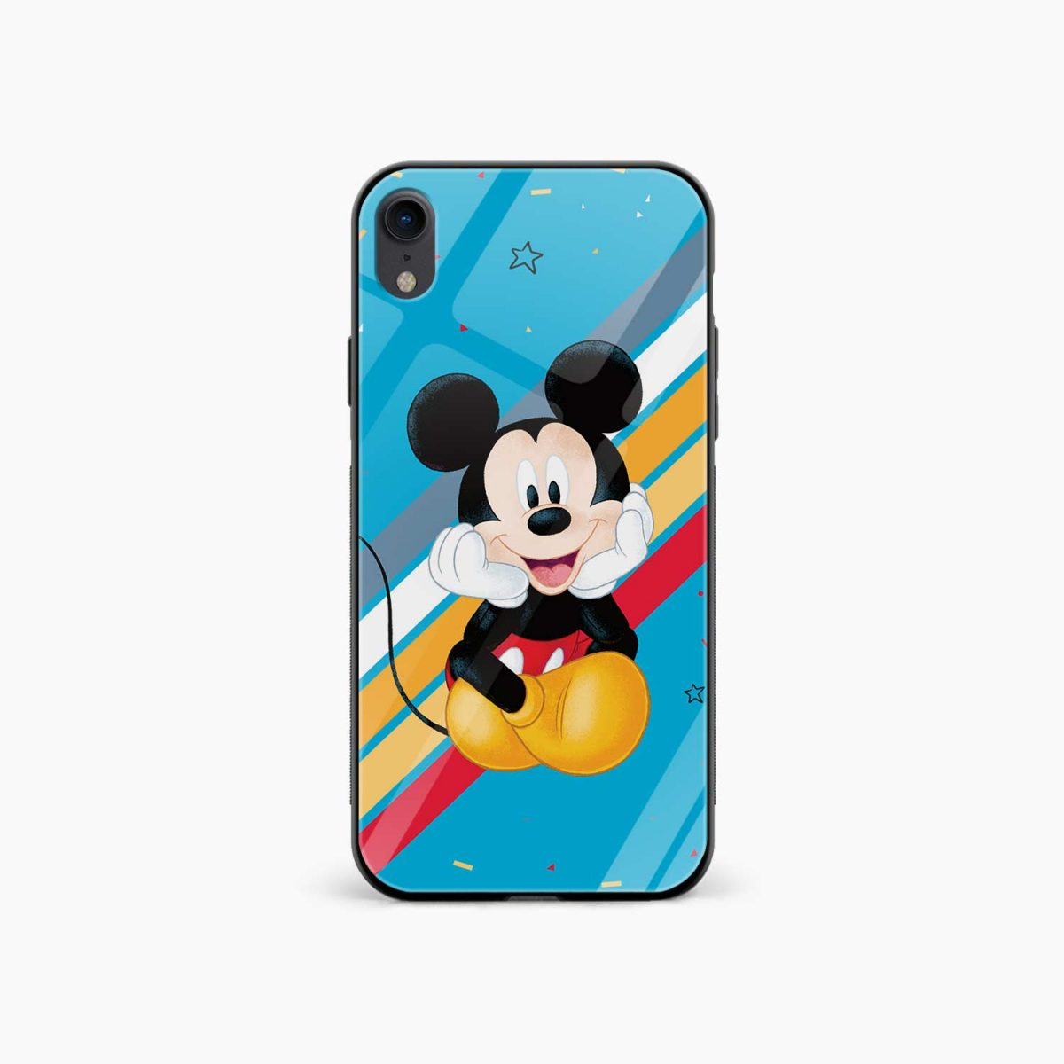 lovely and cute mickey mouse disney cartoon apple iphone xr back cover front view