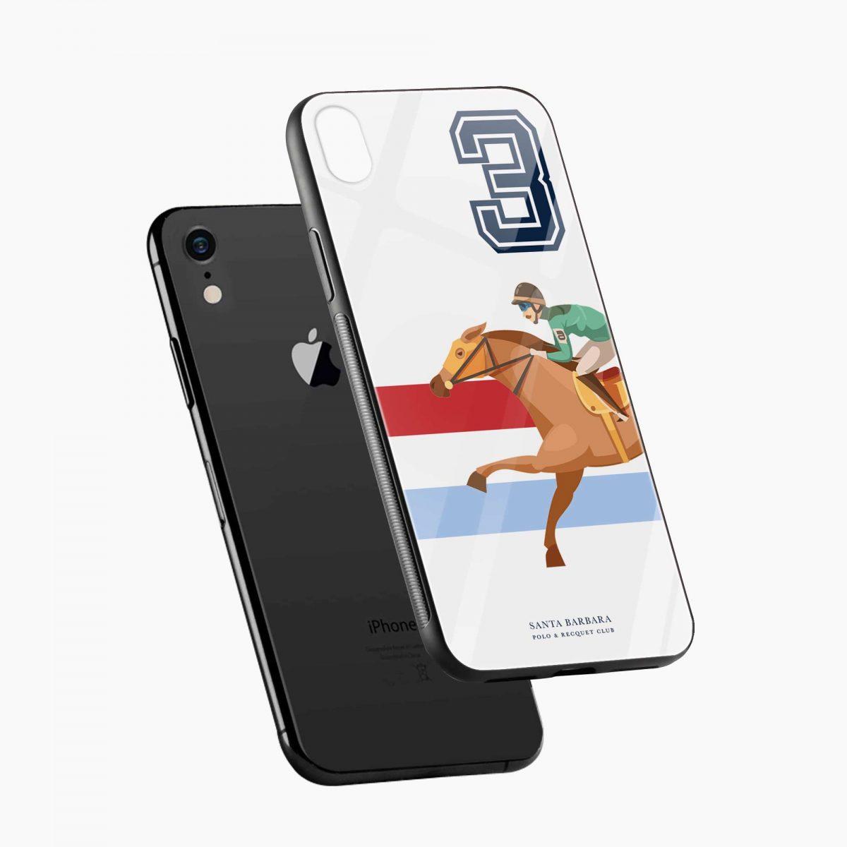 3 d santa barbara polo apple iphone xr back cover diagonal view
